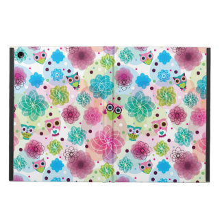 Cute flower owl background pattern case for iPad air