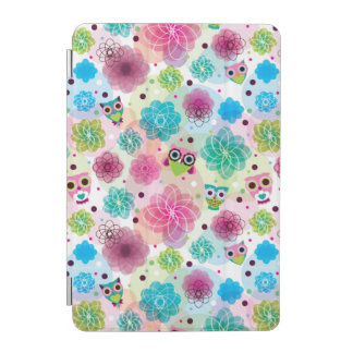 Cute flower owl background pattern iPad mini cover