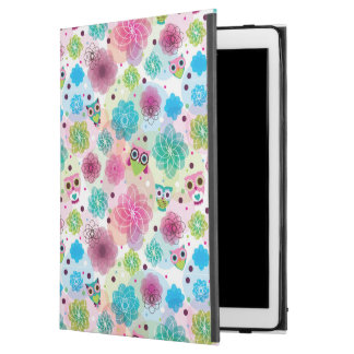 """Cute flower owl background pattern iPad pro 12.9"""" case"""