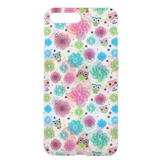 Cute flower owl background pattern iPhone 8 plus/7 plus case