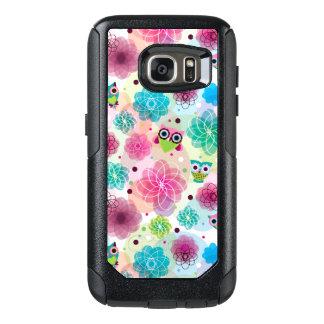 Cute flower owl background pattern OtterBox samsung galaxy s7 case