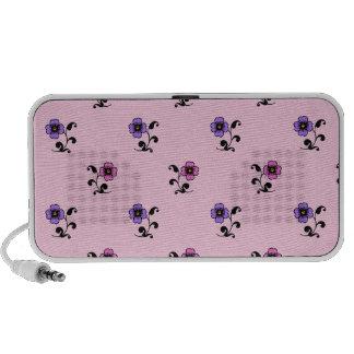 Cute Flower Pattern on Pale Pink iPhone Speakers