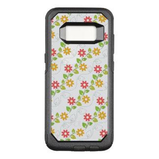 Cute Flower Pattern OtterBox Commuter Samsung Galaxy S8 Case