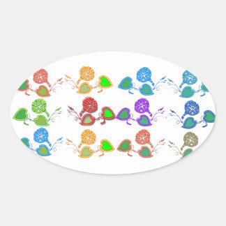 CUTE Flower Show for KIDS n GIRLY Moms Oval Sticker