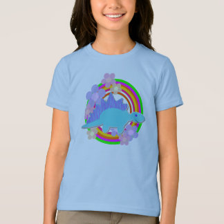 Cute Flower Stegosaurus Dinosaur T-Shirt