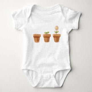 Cute Flowerpot Baby Bodysuit