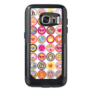 cute flowers, birds, hearts pattern OtterBox samsung galaxy s7 case