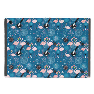 Cute flowers flamingos pattern cover for iPad mini