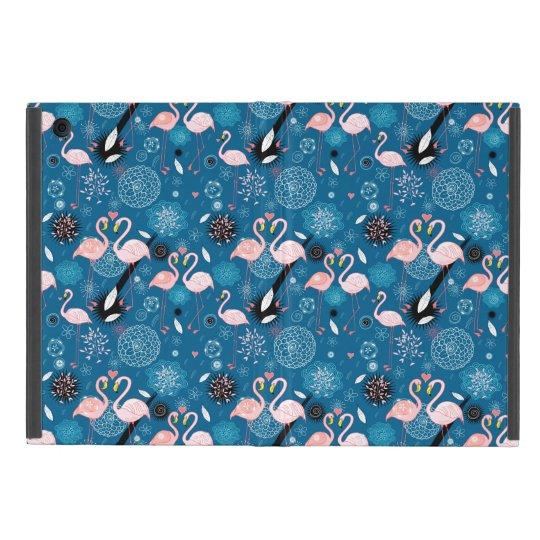 Cute flowers flamingos pattern cover for iPad mini