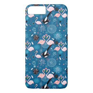 Cute flowers flamingos pattern iPhone 8 plus/7 plus case