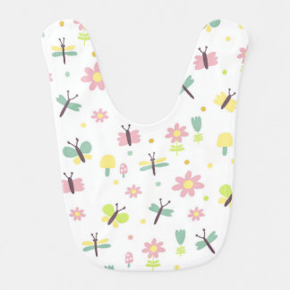 Cute Flowers Floral Bugs Baby Bib for Babies
