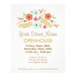Cute Flowers Open House Flyer