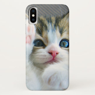 Cute Fluffy Adorable Baby Kitten iPhone X Case