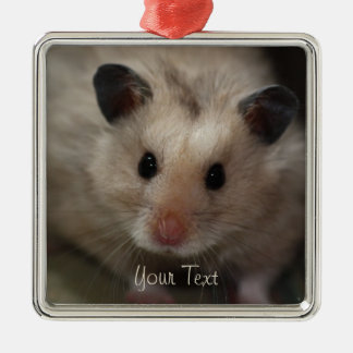 Cute Fluffy Hamster Christmas Ornament