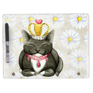 Cute Fluffy Kitten Dry Erase Board With Key Ring Holder