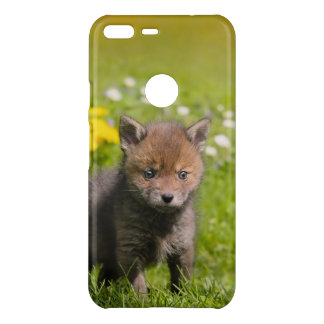 Cute Fluffy Red Fox Kit Cub Wild Baby Animal Photo Uncommon Google Pixel XL Case