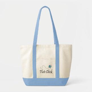 Cute Flute Chick Tote Bag