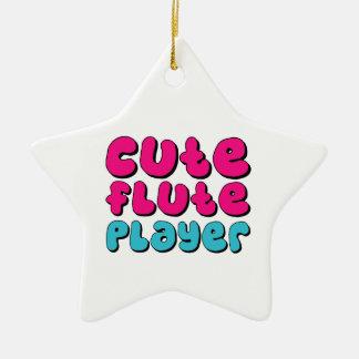 Cute Flute Player Ceramic Star Decoration