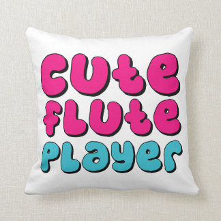 Cute Flute Player Throw Pillows