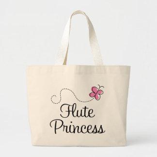 Cute Flute Princess Large Tote Bag