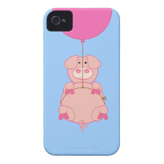 Cute Flying Pig and Balloon iPhone 4 Case-Mate Case