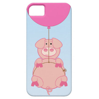 Cute Flying Pig and Baloon Barely There iPhone 5 Case