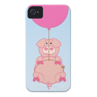 Cute Flying Pig and Baloon Case-Mate iPhone 4 Case