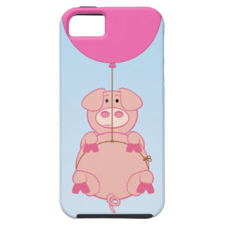 Cute Flying Pig and Baloon Tough iPhone 5 Case
