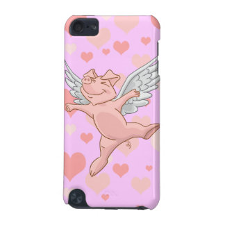 Cute Flying Pig and Pink Hearts iPod Touch (5th Generation) Case