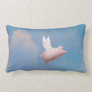 Cute flying pig pillow
