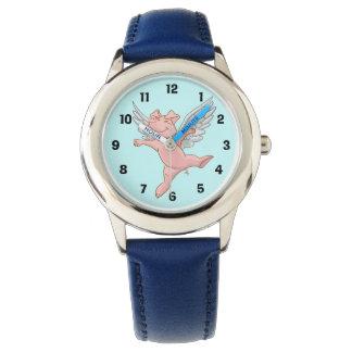 Cute Flying Pig Watch