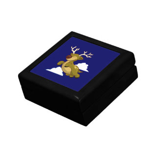 Cute Flying Reindeer Gift Box