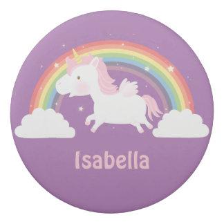 Cute Flying Unicorn and Rainbow Girls Eraser