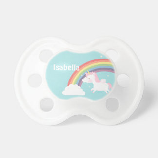 Cute Flying Unicorn Rainbow For Baby Girl Dummy