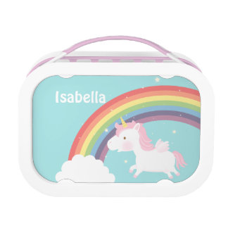 Cute Flying Unicorn Rainbow For Girls Lunch Boxes