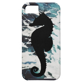 Cute Foamy Black Seahorse Barely There Iphone Case