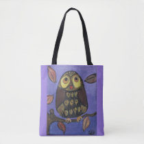 Cute Folk Art Owl Tote Bag
