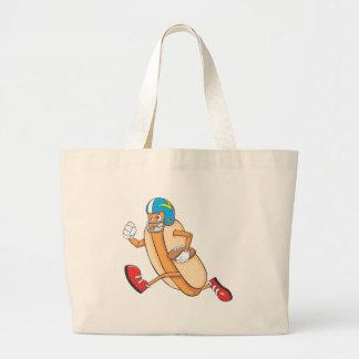 Cute Football Hotdog Running Goal Shirt Jumbo Tote Bag