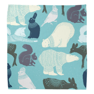Cute Forest Animals Pattern Bandana