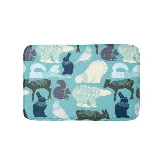 Cute Forest Animals Pattern Bath Mats