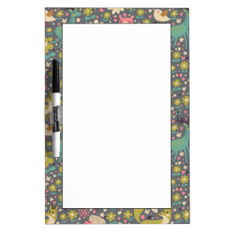 Cute Forest Animals Pattern Dry Erase Board