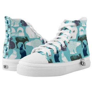 Cute Forest Animals Pattern High Tops