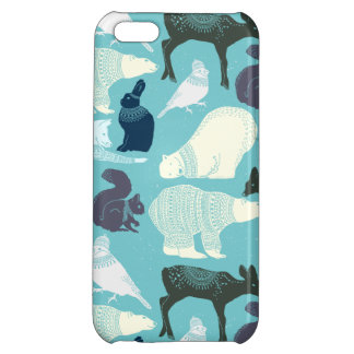 Cute Forest Animals Pattern iPhone 5C Covers