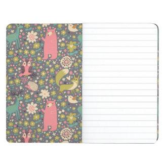 Cute Forest Animals Pattern Journals