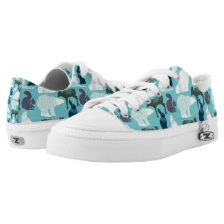 Cute Forest Animals Pattern Low Tops