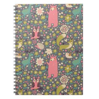 Cute Forest Animals Pattern Notebook