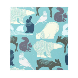 Cute Forest Animals Pattern Notepad