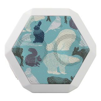 Cute Forest Animals Pattern White Bluetooth Speaker
