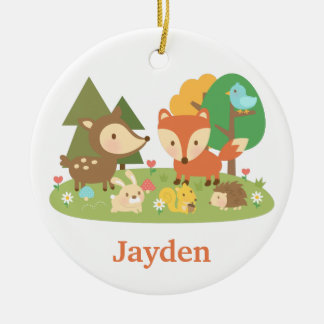 Cute Forest Woodland Animal Kids Room Decor Christmas Ornament