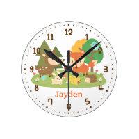 Woodland Animal Clock